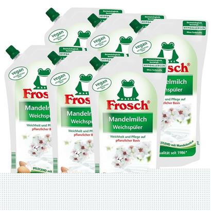 6x frosch mandelmilch weichsp ler 1 liter pflegend mit. Black Bedroom Furniture Sets. Home Design Ideas