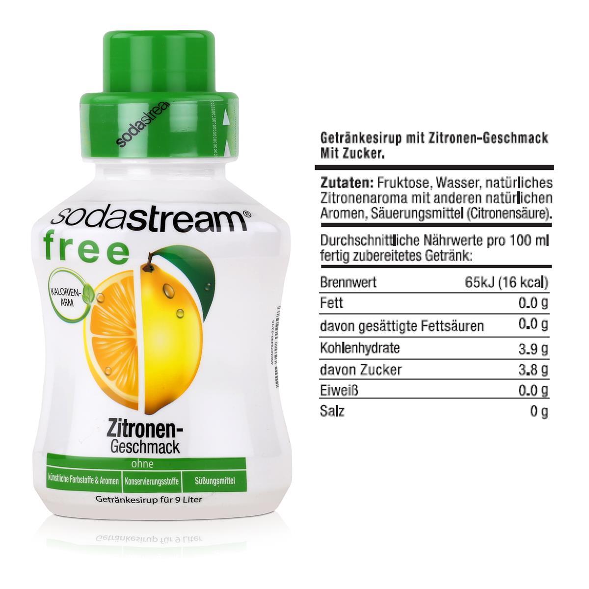 SodaStream Getränke-sirup Zitronen Geschmack 375ml (3er Pack) | eBay