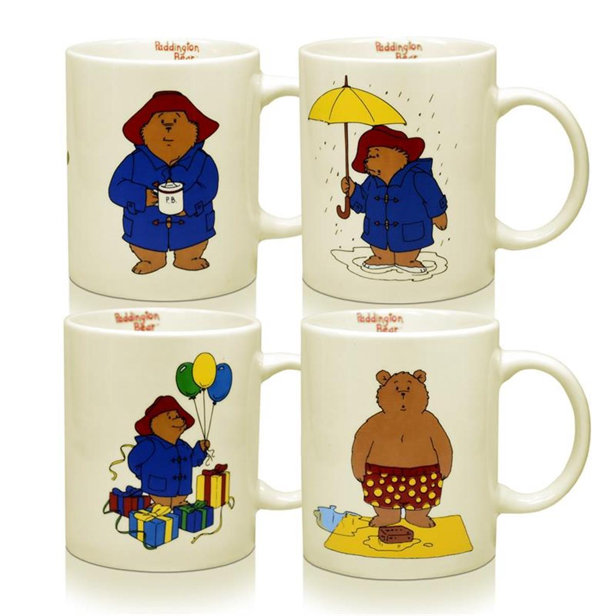 senseo douwe egberts paddington bear porzellan tassen set modell a b c d 250ml. Black Bedroom Furniture Sets. Home Design Ideas