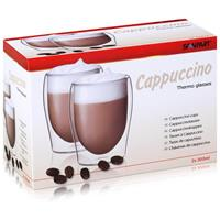SCANPART Cappuccino Thermogläser 2x30cl - Doppelwandiges Thermoglas (1er Pack)