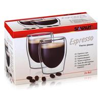 SCANPART Espresso Thermogläser 2x8cl - Doppelwandiges Thermoglas