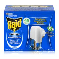 Raid Mückenstecker inkl. Nachfüller für ca. 45 Nächte