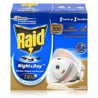 Raid Night & Day Trio Mückenstecker & Nachfüller