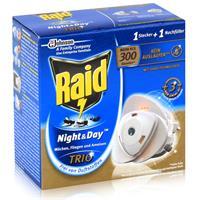 Raid Night & Day Trio Insekten Stecker & Nachfüller, gegen Mücken, Fliegen & Ameisen