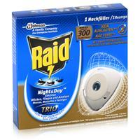 Raid Night & Day Trio Insekten Stecker Nachfüller, gegen Mücken, Fliegen & Ameisen