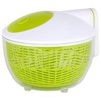 Leifheit Salatschleuder 3 Liter groß grün/weiß - Für Salat & Kräuter