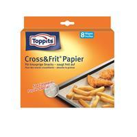 Toppits® Cross & Frit Papier Back-Spezialpapier Snackpapier 8 Bögen ( 1er Pack )