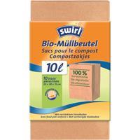 Swirl Bio-Müll-Papier-Beutel 10L 10 Stück (1er Pack)