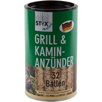 Styx Ökoline Grill & Kamin Anzünder 32 Ballen Holzwolle (1er Pack)