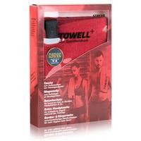 Stryve Towell Plus Sporthandtuch mit Tasche und Magnetclip rot (1er Pack)