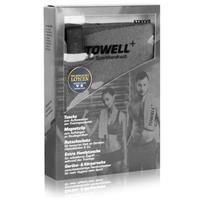 Stryve Towell Plus Sporthandtuch mit Tasche und Magnetclip grau (1er Pack)