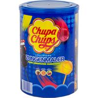 Chupa Chups Lollipops Zungenmaler 100 Stück - Cola, Orange, Kirsch (1er Pack)