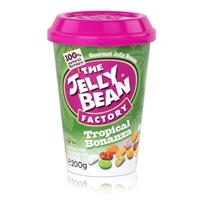 Jelly Bean Factory Tropical Bonanza 200g - Früchtemix Jelly Beans (1er Pack)