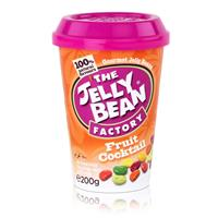 Jelly Bean Factory Fruit Cocktail 200g - Früchtecocktailmix Jelly Beans (1er Pack)