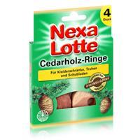 Nexa Lotte Cedarholz-Ringe 4 stk. - angenehmer Duft, insektizidfrei