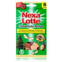 Nexa Lotte Cedarholz-Ringe 6 stk. - angenehmer Duft, insektizidfrei