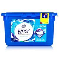 Lenor 3in1 Pods Weiße Wasserlilie Vollwaschmittel 369,6g - 14 WL (1er Pack)