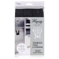 Hagerty Magic Glove 2in1 Stainless Steel - Mikrofaser-Handschuh