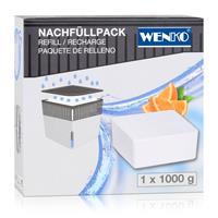 Wenko Design Raumentfeuchter Cube Nachfüller Orange 1000g