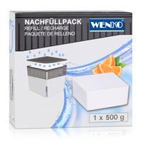 Wenko Luftentfeuchter Design Cube Nachfüller Orange 500g