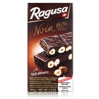 Ragusa Noir 60% dunkle Schokolade mit ganzen Haselnüssen 100g (1er Pack)