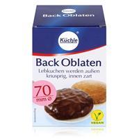 Küchle runde Back Oblaten 70mm Ø 71g - Lebkuchen bleiben innen zart