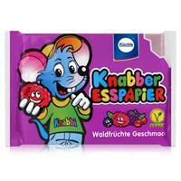 Küchle Knabber Esspapier lila Waldfrüchte Geschmack 25g Essoblaten (1er Pack)