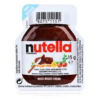 Ferrero Nutella Mini Brotaufstrich Schokolade 15g-Nuss-Nougat-Creme (1er Pack)