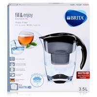 BRITA Elemaris XL 3,5L Wasserfilter schwarz & 1x Maxtra+ Kartusche