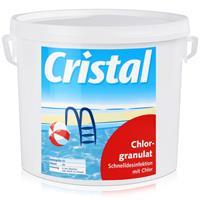 Cristal Chlorgranulat 5kg Eimer - Schnelldesinfektion mit Chlor (1er Pack)