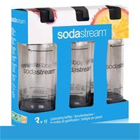 SodaStream PET Ersatz-Flaschen grau - Flaschengröße 3x1 Liter (1er Pack)