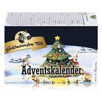 Goldmännchen-Tee Adventskalender mit 24 Teesorten 50g Tanne