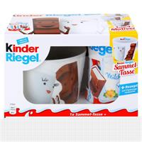 Ferrero Kinder Riegel 10er Packung 210g & eine Sammel-Tasse (1er Pack)