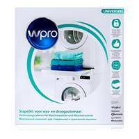 wpro SKS101 Verbindungsrahmen mit Ablage für Waschmaschinen und Wäschetrockner
