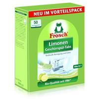 Frosch Limonen Geschirrspül-Tabs 50 Tabs - Reinigung und Glanz (1er Pack)