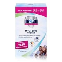 Impresan Hygiene Tücher 12 Feuchttücher - Ideal für unterwegs