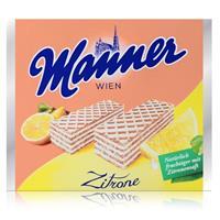 Manner Wien Zitronencreme Schnitten 75g - Knusprige Waffeln (1er Pack)
