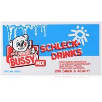 Bussy Mix Schleck Drinks 200 Stück á 40ml - Auch als Stangeneis (1er Pack)