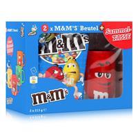 M&M´s Crispy Beutel 2x213g & Rote Sammel-Tasse (1er Pack)