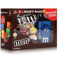 M&M´s Chocolate Beutel 2x250g & Blaue Sammel-Tasse (1er Pack)