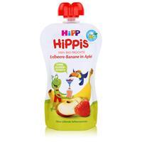 Hipp Hippis Quetschbeutel, Erdbeere-Banane in Apfel