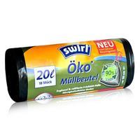 Swirl Öko Müllbeutel 20L ( 18 stk./ Rolle ) mit Zugband