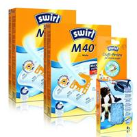 2x Staubsaugerbeutel Swirl M 40 Plus AirSpace mit Duftperlen Active Fresh für Miele