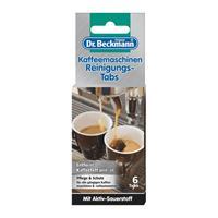 Dr. Beckmann Kaffeemaschinen Reinigungs-Tabs 6 Tabs - Entfernt Kaffeefett und -öl