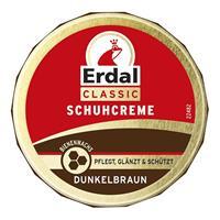 Erdal Classic Schuhcreme Dunkelbraun - Dosencreme, pflegt, glänzt & schützt, 75 ml