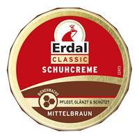 Erdal Classic Schuhcreme Mittelbraun - Dosencreme, pflegt, glänzt & schützt, 75 ml