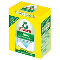 Frosch Citrus Voll-Waschpulver 1,35 kg - Flecklösend mit Zitrone