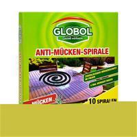 Globol Anti-Mücken-Spirale 10 Spiralen - 4 mal weniger Rauch