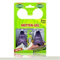 Globol Motten-Gel 2 Stück - Wirkt bis zu 3 Monate - mit natürlichem Lavendelöl