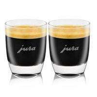 Jura Espressogläser 2er aus Bleikristall 7 cm hoch